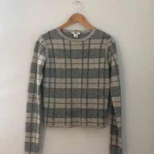 LIKE NEW Paige Autry Plaid Wool Sweater